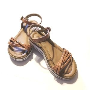 Pampili Girl's Brown Sandals - size 10